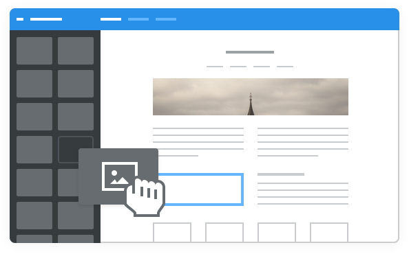Drag and Drop page builder